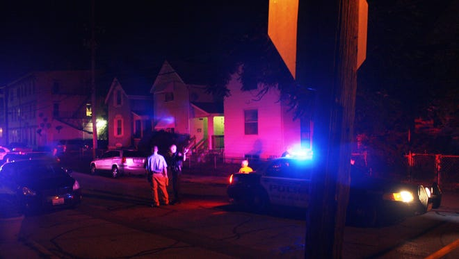 A drive-by shooting in Norwood put a teenage girl in the hospital Friday night.