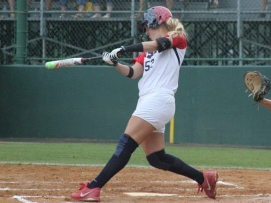 COURTESY OF USA SOFTBALL Akron Racers infielder Sam Fischer is entering her rookie season in the National Pro Fastpitch league. The Simi Valley High graduate is a member of the USA Softball National Elite team.