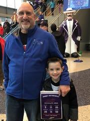 Guys Night Out –  We caught up with Michael Malchioni and his son Adam at the Aces – Bulldogs game this past week at the Ford Center. While the Aces kept the lead the entire game, Drake gave a good fight, coming within 2 points of taking the lead.  The final score was 77-73, Aces winning.