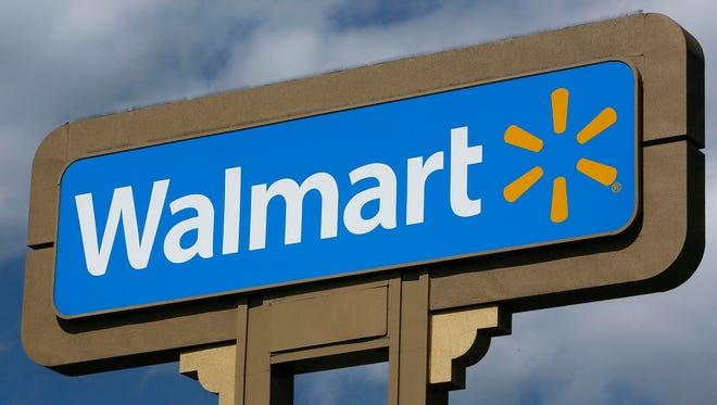 Wal-Mart sign file photo