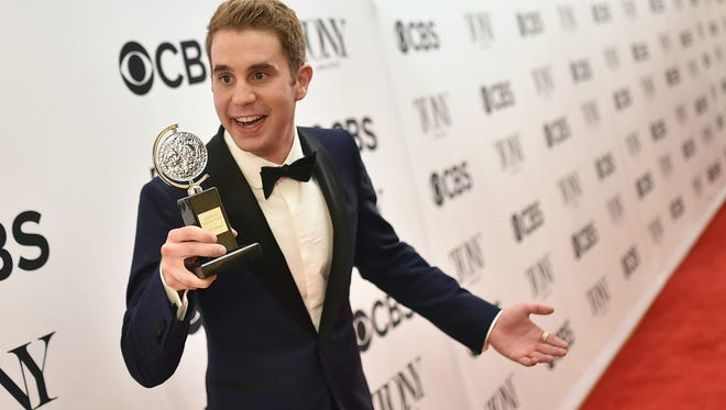 "Ben Platt, winner of the award for Best Actor in a Musical for ""Dear Evan Hanson,"" poses in the press room during the 2017 Tony Awards at 3 West Club on June 11, 2017 in New York City."