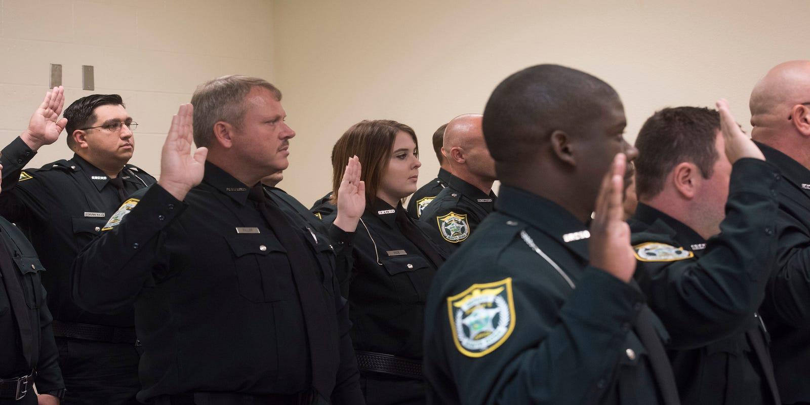 Santa Rosa County Sheriff's Office swears in 18 new deputies