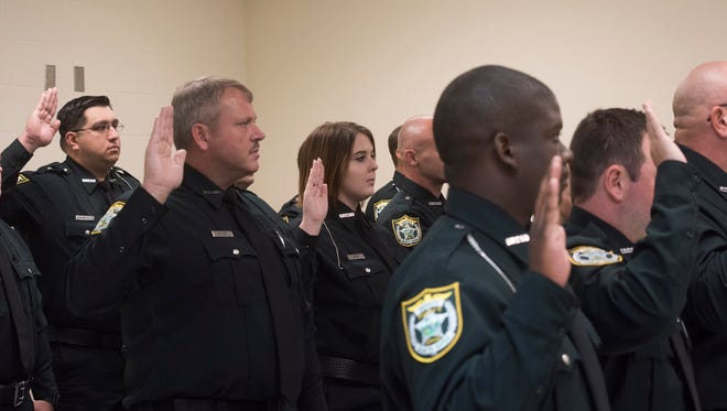 The Santa Rosa County Sheriff's Office welcomes 18 new deputies on Thursday.