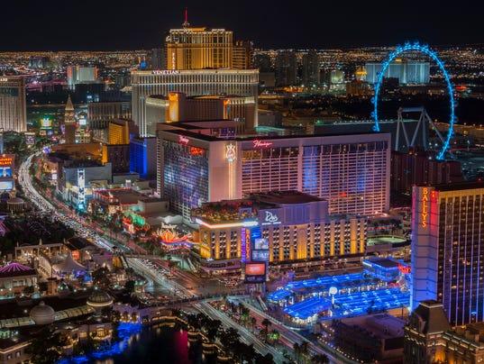 Las Vegas Strip at night - high vantage