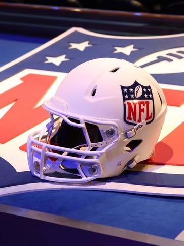 FILE -- NFL helmet, logo.