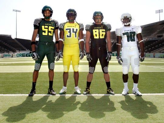 Oregon started to wear increasingly more garish uniforms