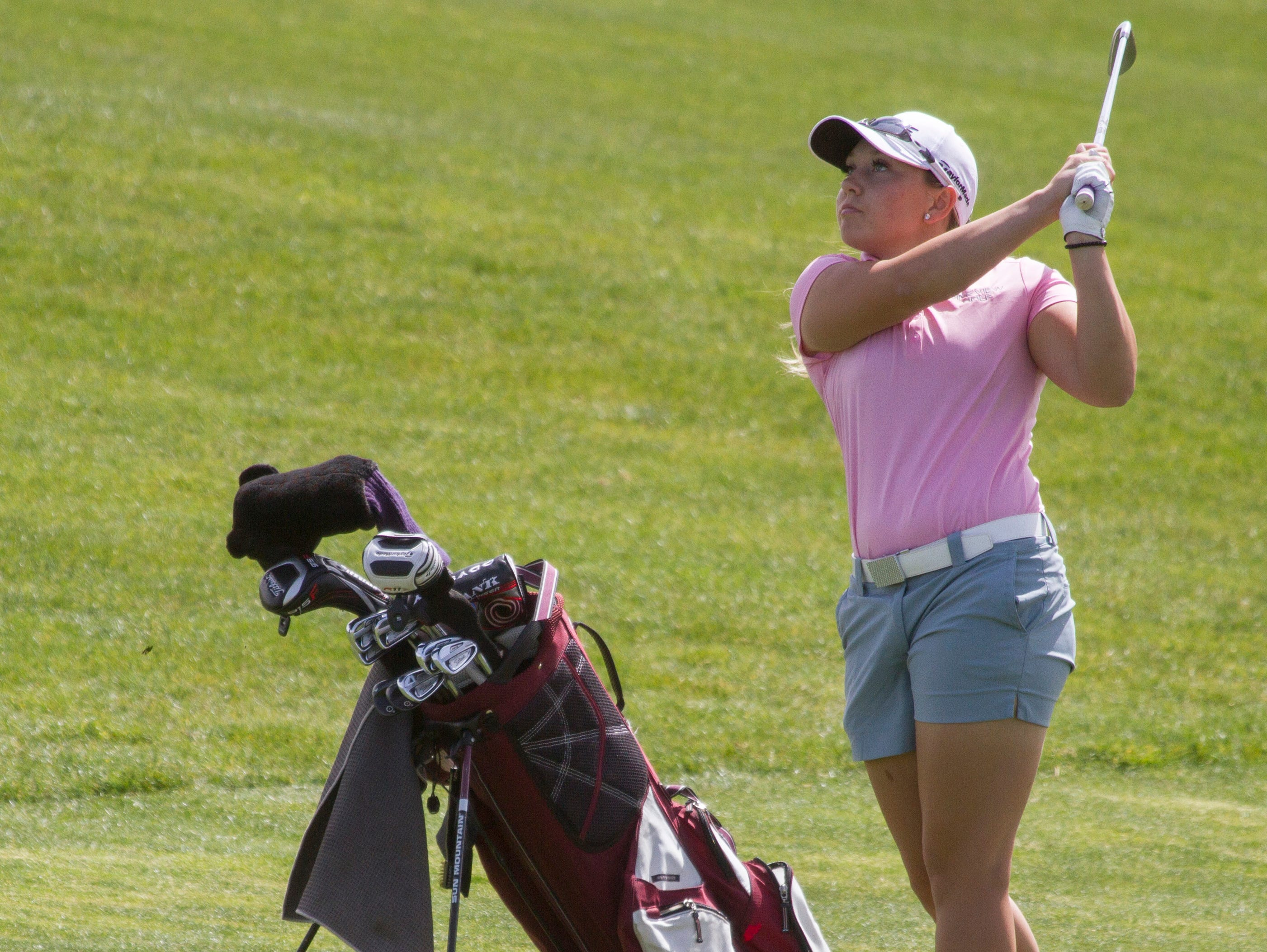 Pine View's Taylor Bandley had two birdies on the day to lead the Panthers to a thrilling upset victory over Desert Hills Wednesday afternoon at The Ledges Golf Club.
