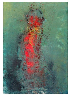 Gomez works in figurative art, which focuses on the human figure. His work is abstract.