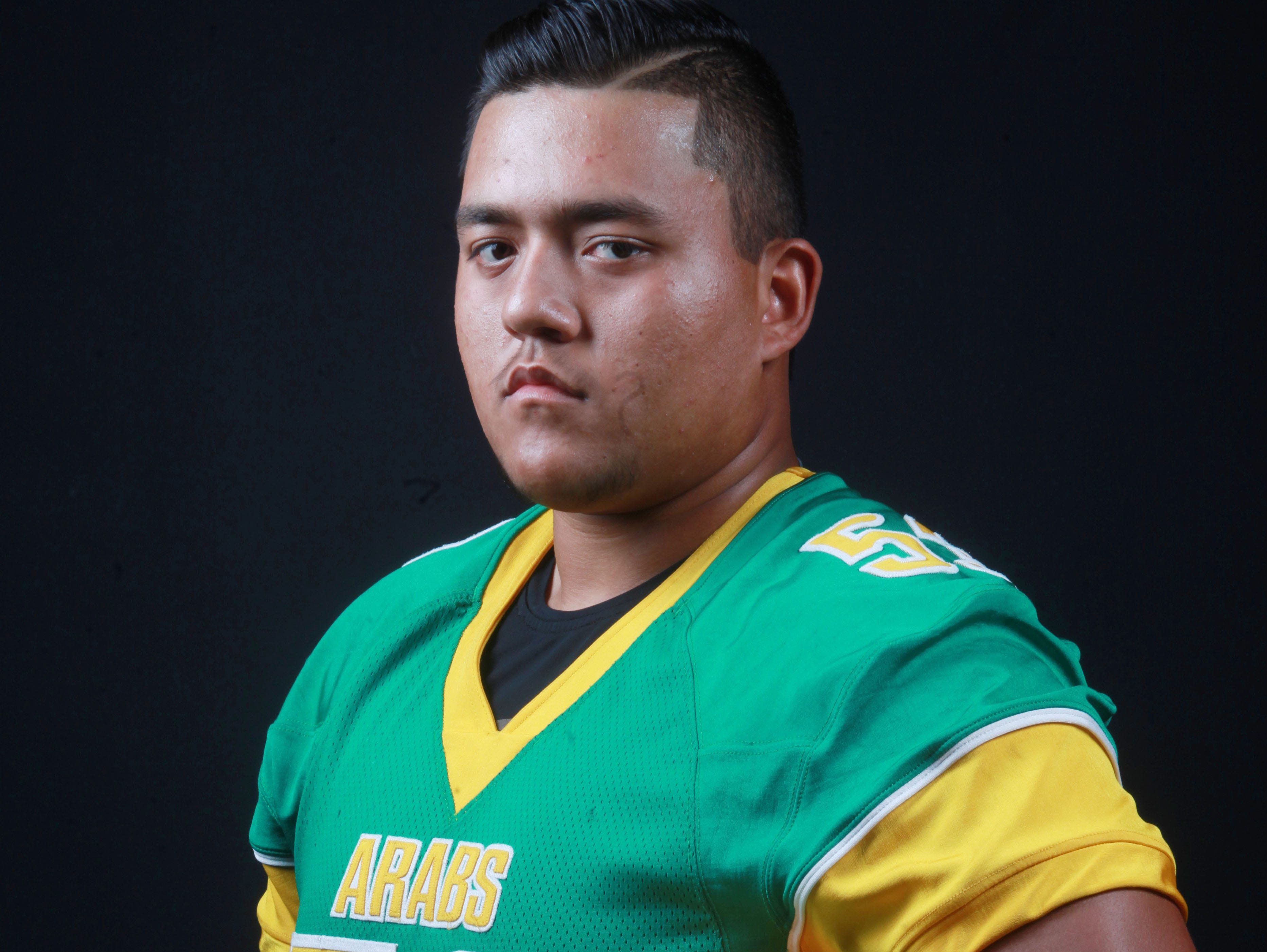 Coachella Valley High School lineman Nick Hernandez is photographed as one of the 11 elite athletes of the Coachella Valley.