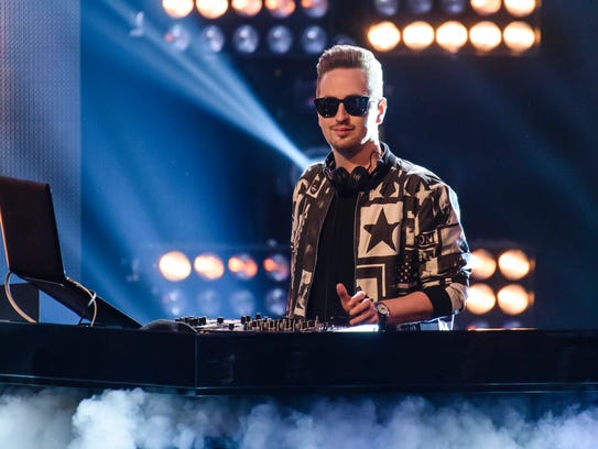 Robin Schulz performs on stage of the 'The Voice Of