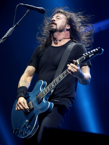 The Foo Fighters perform at Bridgestone Arena Friday
