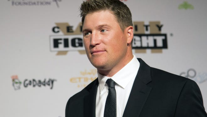 Valley athlete Todd Heap from an event in April 2016. Heap accidentally ran over his 3-year-old daughter Holly last April with his truck. He discussed it publicly for the first time Saturday.
