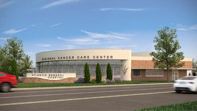 Final artist rendering of the Regional Cancer Care Center in Berlin, scheduled for completion in 2018