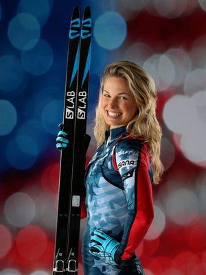Cross country skier Jessie Diggins.