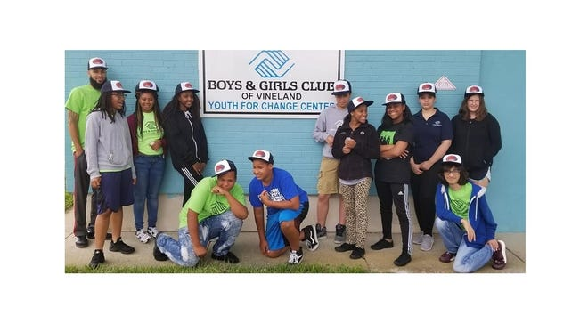 "Teens at the Boys & Girls Club of Vineland learned to ""Block the Blaze"" with hats and sunscreen."
