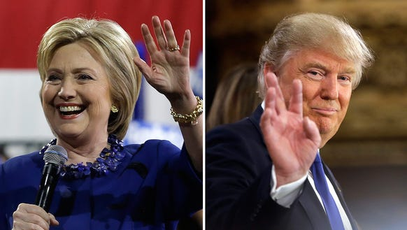 Democratic front-runner Hillary Clinton and Republican