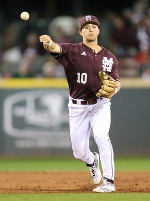 Mississippi State's Ryan Gridley bats third for the Bulldogs and is hitting .346 with five homers.