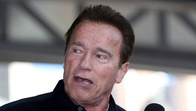 Arnold Schwarzenegger speaks on stage prior to the Arnold Family Walk as part of the 2017 Arnold Classic on March 19, 2017 in Melbourne, Australia.