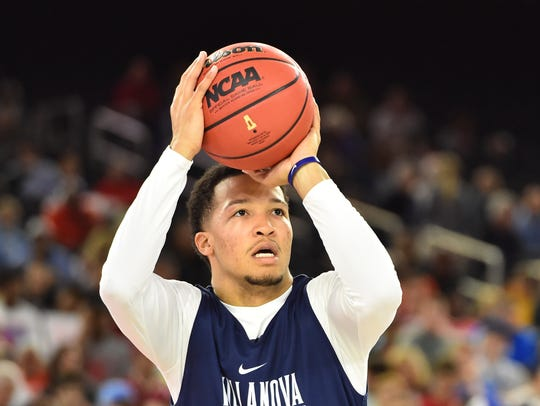 Villanova Wildcats guard Jalen Brunson (1) during practice