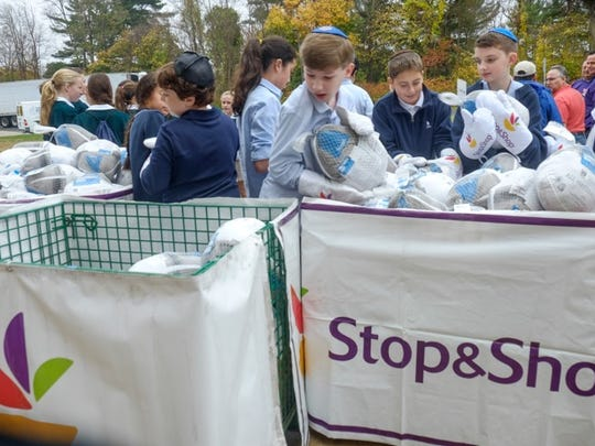 Last Thursday middle schoolers unloaded 1,500 turkeys
