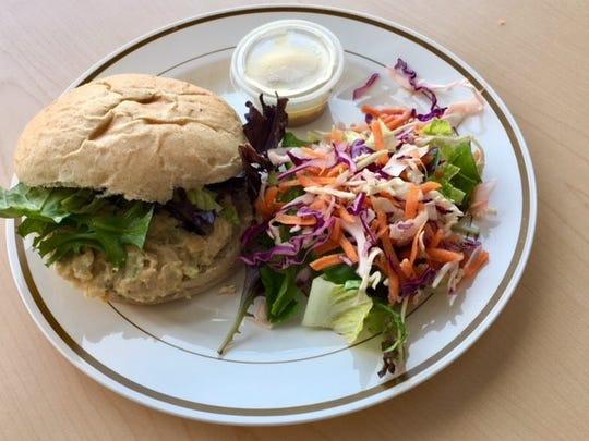 Chickpea Tuna Sandwich from Brightside Kitchen.