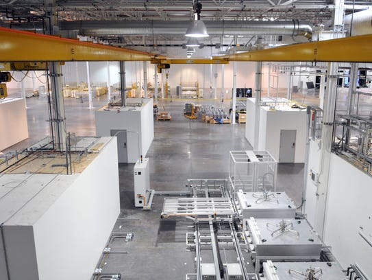A small section of Stion's global manufacturing facility,