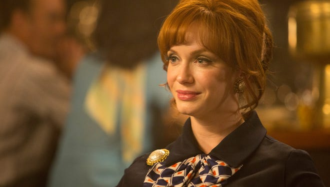 Christina Hendricks as Joan, in a scene from the 'Time & Life' episode of 'Mad Men.'