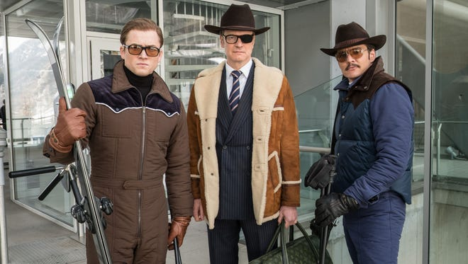 """Taron Egerton, Colin Firth and Pedro Pascal get to work in """"Kingsman: The Golden Circle."""""""