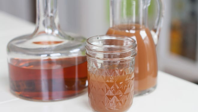 The Orchard: 2 ounces bourbon, 2 ounces apple cider, 1 teaspoon agave nectar, ice. Combine all ingredients in a cocktail shaker, then shake well. Strain into a canning jar or some similarly laid back drinking vessel.