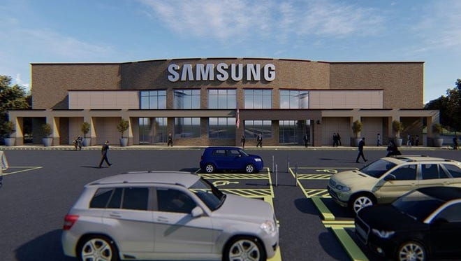 Samsung said Thursday, July 12, 2018, that it plans to update an existing building at the corner of Holland and Bridges roads in Mauldin for its new customer care center.