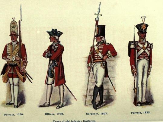 British old infantry uniforms.
