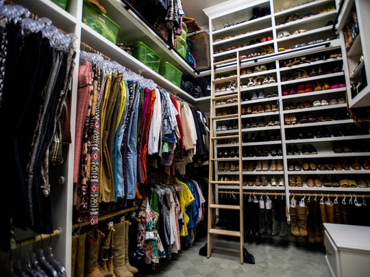 There is storage up to the very top of the closet belonging to Virginia Stokes, Thursday, Nov. 5, 2015.