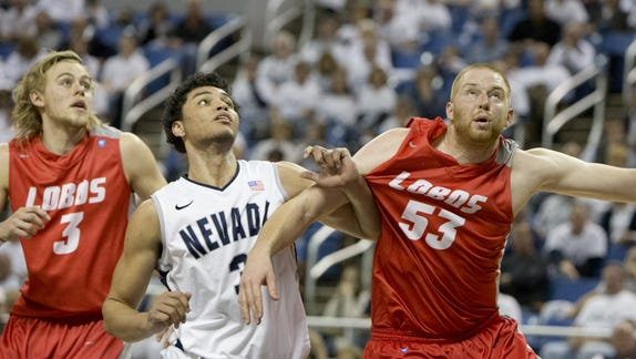 A photo taken during the Nevada vs New Mexico basketball game at Lawlor Events Center in Reno, Nevada on Sunday afternoon, March 2, 2014.