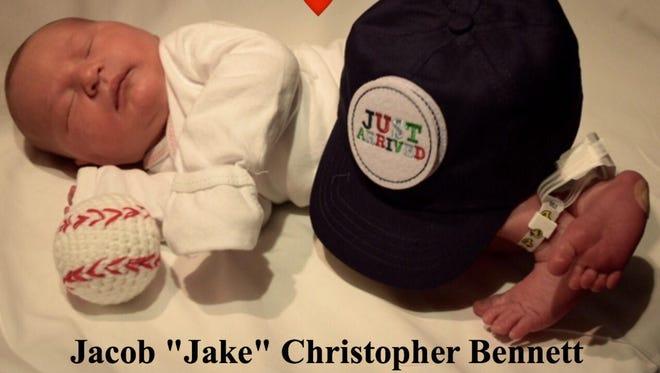 Lillian McDermott's grandson, Jacob Christopher Bennett, was born June 1, 2016.