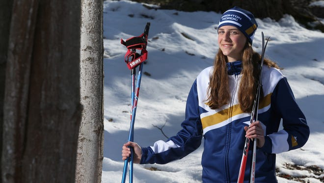 Grace Mattern of Brighton is the AGR Girls Nordic Skier of the Year.
