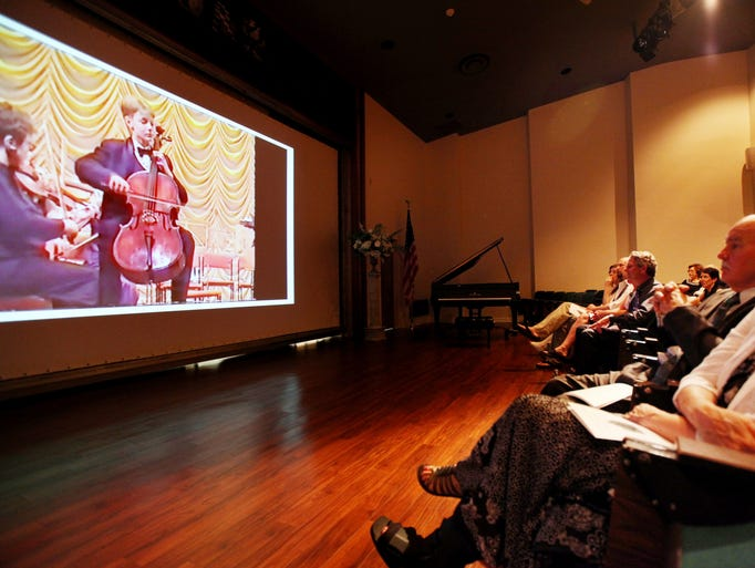 A video of Dmitry Volkov performing in a concert at 11-years-old was shown at a memorial to celebrate the life of Dmitry Volkov, who was an artist in residence at the Heifetz International Music Institute at Mary Baldwin College, was organized by his friends on Saturday, June 14, 2014, at Mary Baldwin to honor and remember the young Russian-born cellist who died on May 10 at the age of 26.