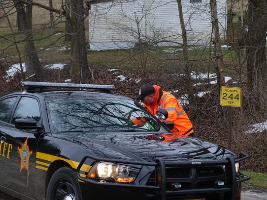 The Coshocton County Sheriff's Office arrived at the