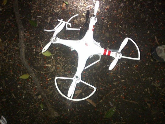 A drone crashed Monday on the White House grounds,