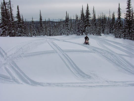 Snowmobiling in Black River Falls.