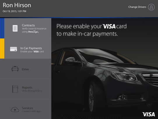 The idea behind the prototype Visa/DocuSign in-car