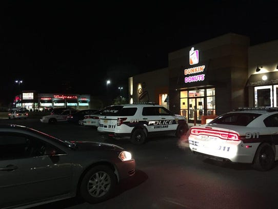 Vineland Police swarm the Dunkin' Donuts parking lot
