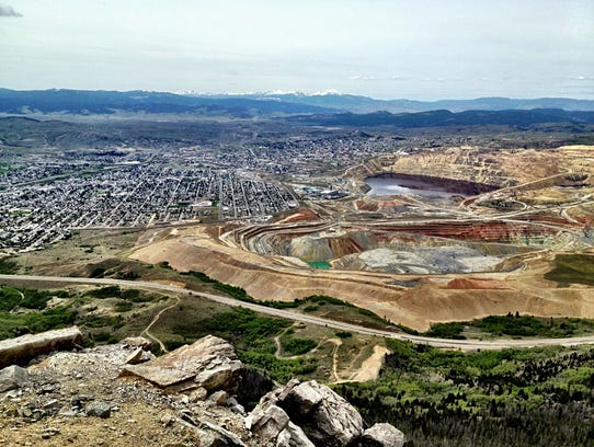 The view of Butte from Our Lady of the Rockies.