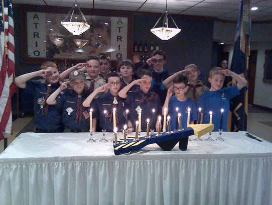 Members of Cub Scout Pack 209 were honored with the