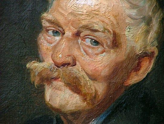 "A detail from ""1934 Farmer,"" a Depression Era portrait"