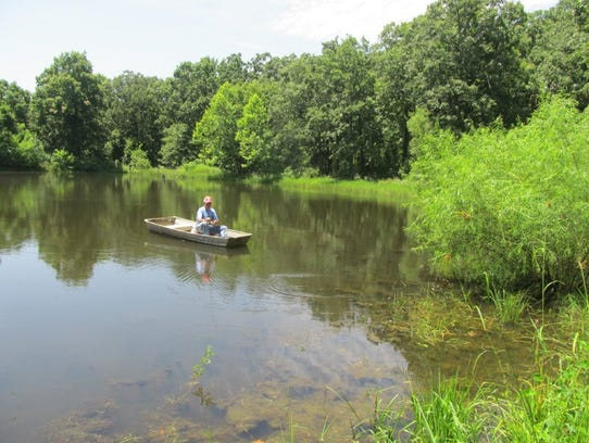 Using a small boat, canoe or kayak is useful when fishing