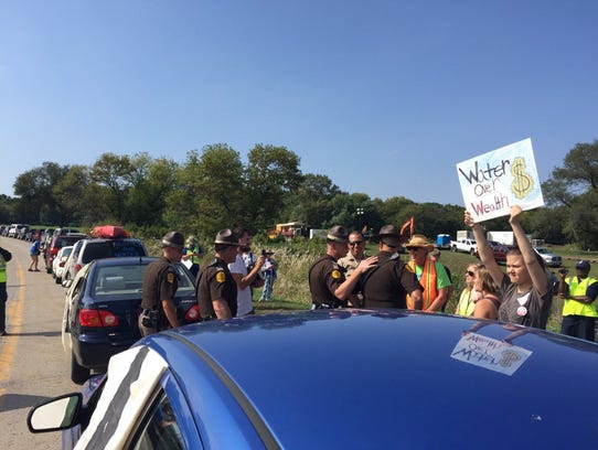 State troopers and deputies on hand at pipeline protest