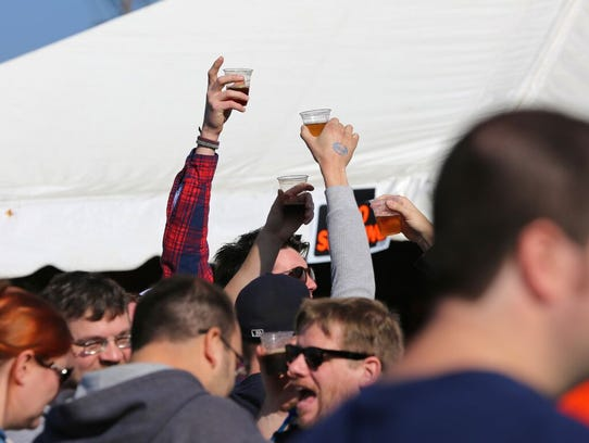 The 2014 Fall Beer Festival at Eastern Market in Detroit.
