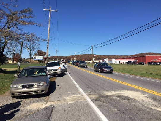Cars involved in subsequent crashes around 1 p.m. on