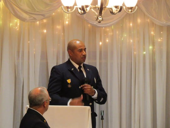 Jermaine (Jerry) Lanier was honored as Mansfield Firefighter