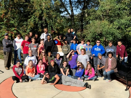 The youth group from First Baptist St. B Church recently